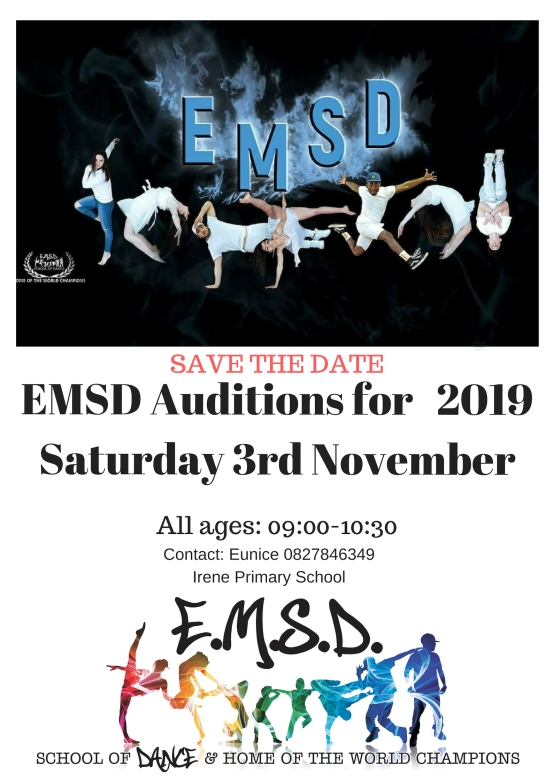 EMSD AUDITIONS POSTER 2018